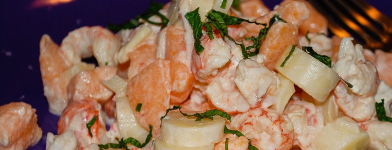 Langostino-melon-heart-of-palm-salad