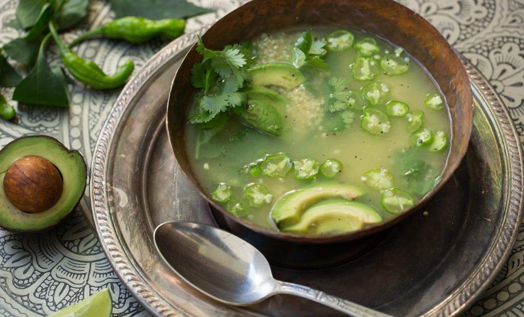 Quinoa & Cilantro Soup Recipe