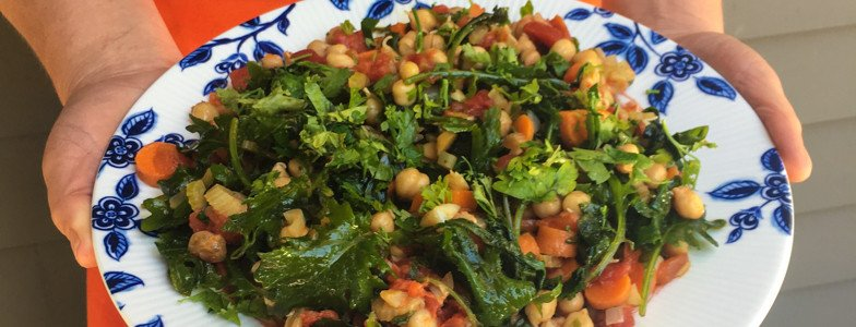Hipcooks recipe for garbanzo bean salad