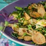 Roast turnips & greens salad