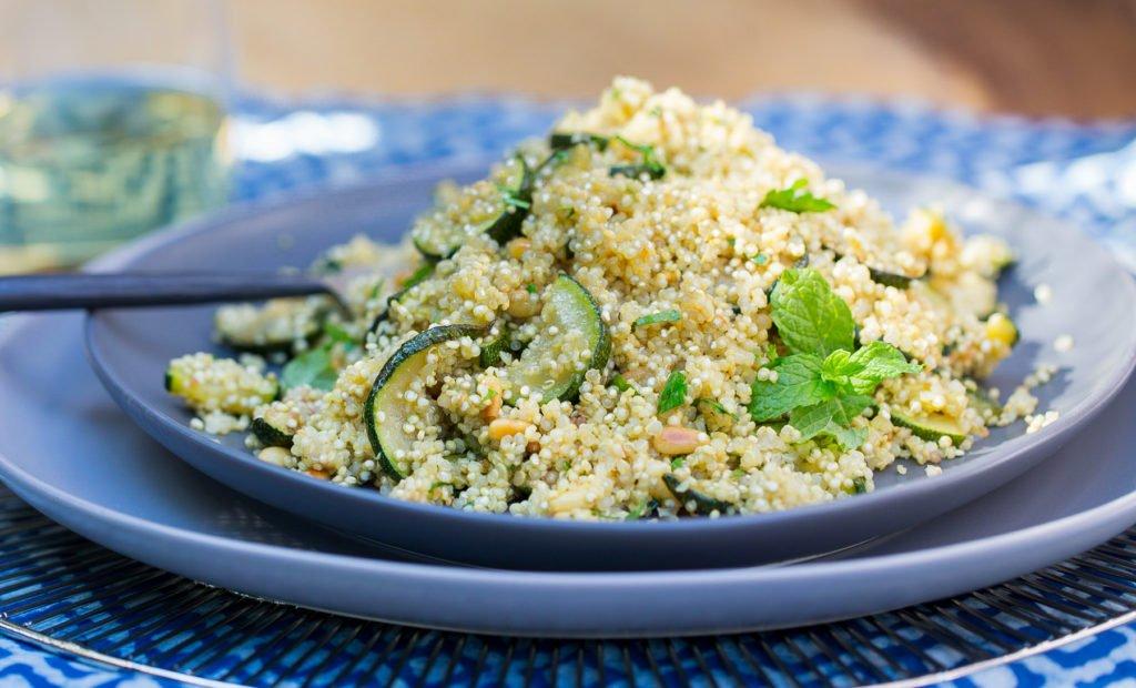 Zucchini, Mint & Quinoa Salad Recipe
