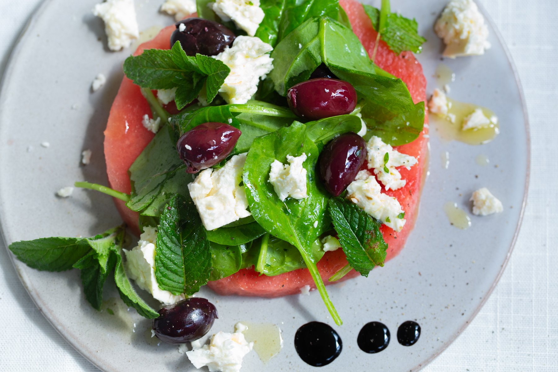 Watermelon, Olive & Feta Salad recipe