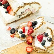 Raspberry Walnut Roll Recipe