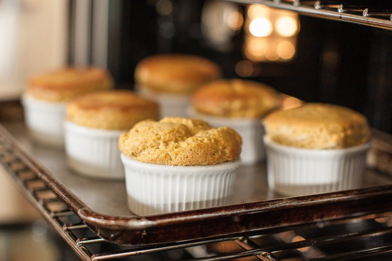 Pumpkin Soufflé with Cognac Cream Recipe