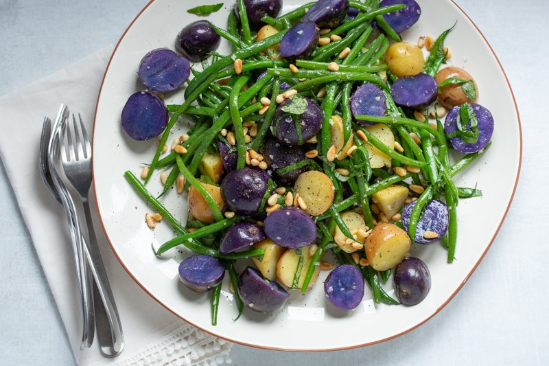 Warm Potato & Green Bean Salad for Father's Day Online Class