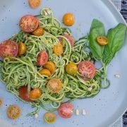 Zucchini Pasta with Pesto Recipe