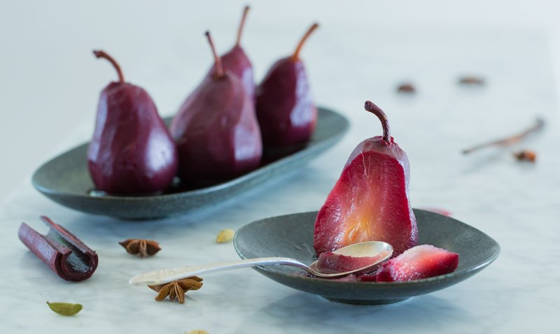 Poached Red Wine Pears Recipe