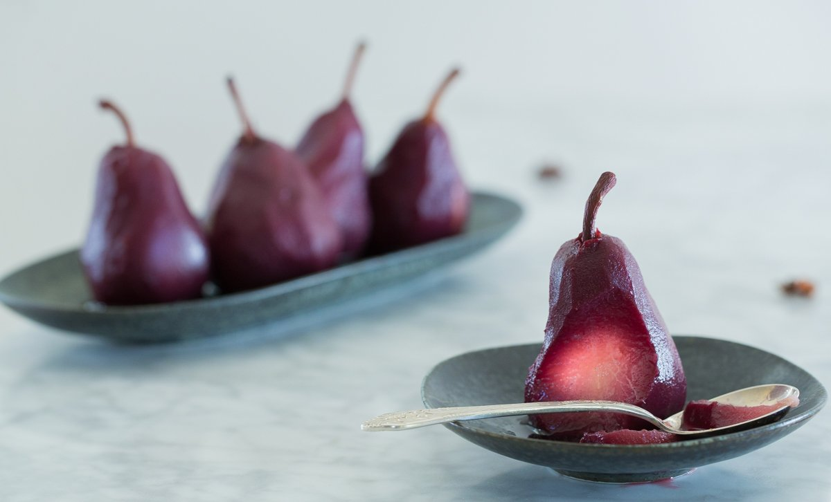 Red Wine Poached Pears Recipe