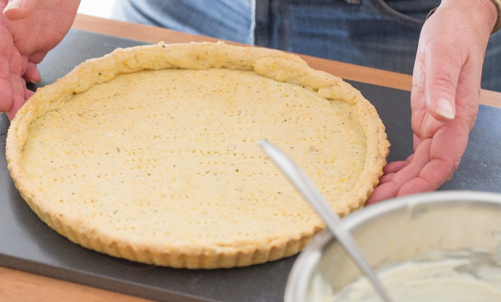 How to make Polenta crust.