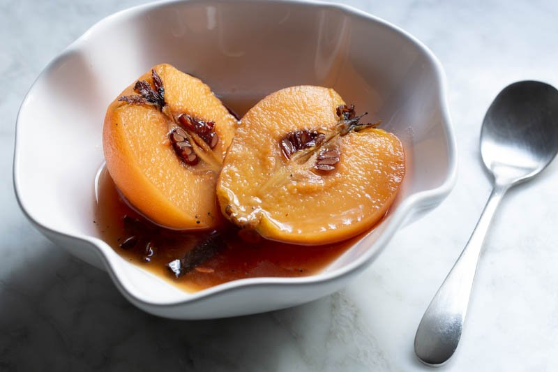 Poached Quince for Dessert