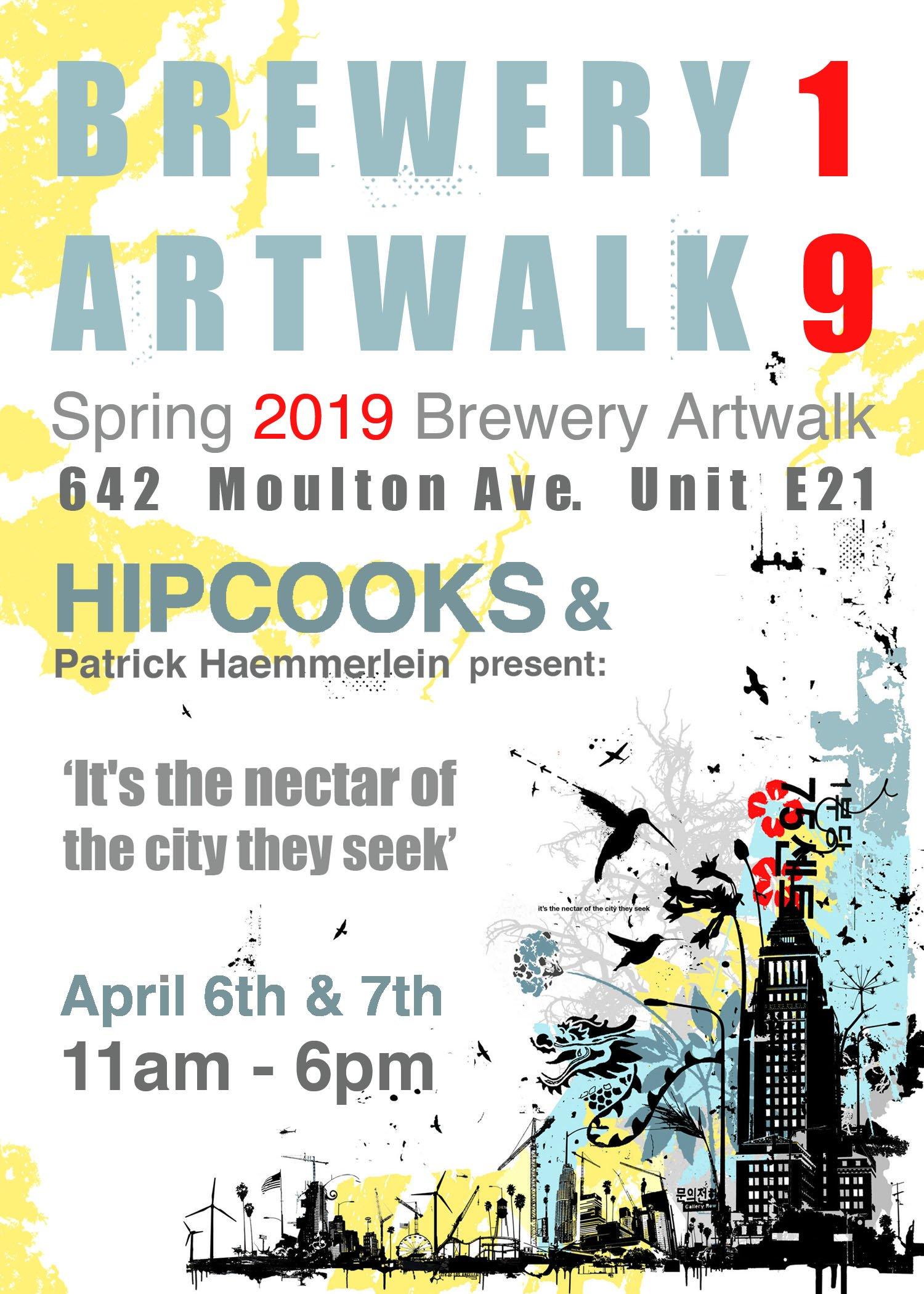 Brewery Artwalk invite at Hipcooks