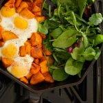 Baked eggs & sweet potatoes