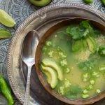Peruvian quinoa, cilantro & avocado soup