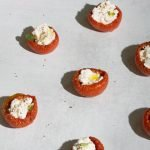 Roasted tomatoes stuffed with ricotta
