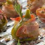 Gorgonzola figs wrapped in bacon