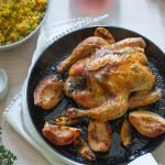 Roast Chicken with Lemon & Quince