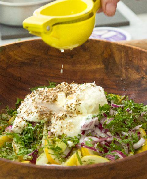 Lebanese lemon cucumber salad thumbnail