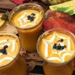 Spooky carrot soup