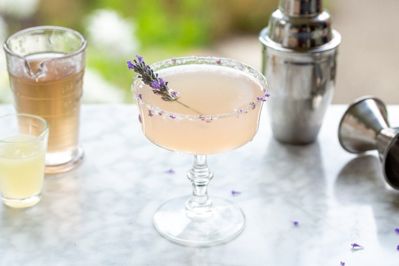 Lavender Cocktail on a table