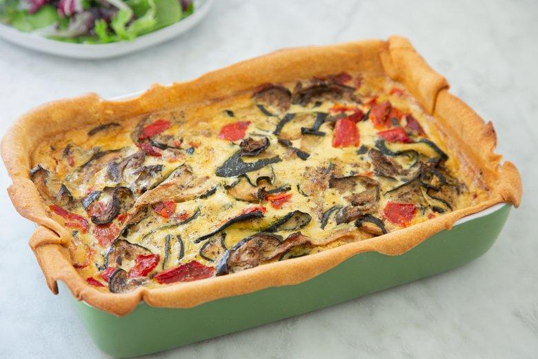 The perfect veggie quiche