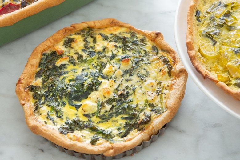 Spinach & kale quiche