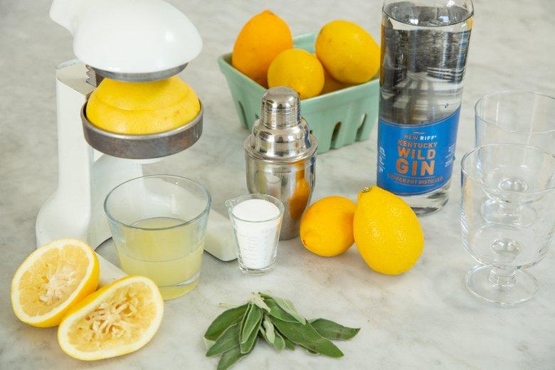 Sage Rush cocktail ingredients