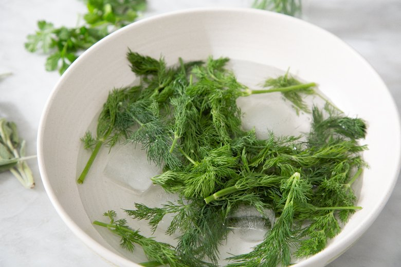 Dill in cold-water plunge