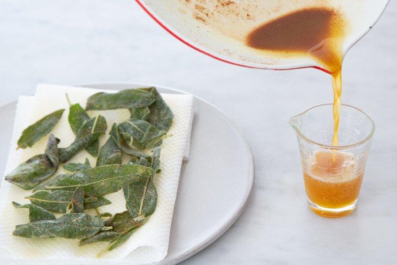 Crispy Sage Leaves and Sage Brown Butter