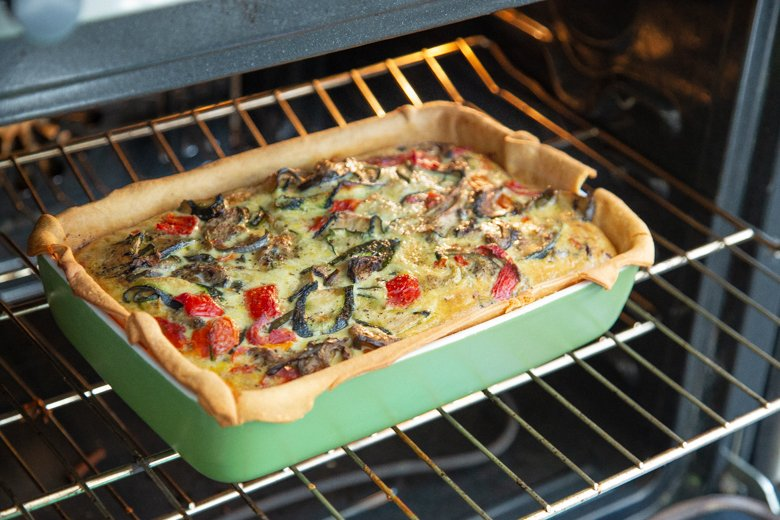 how to make an easy veggie quiche