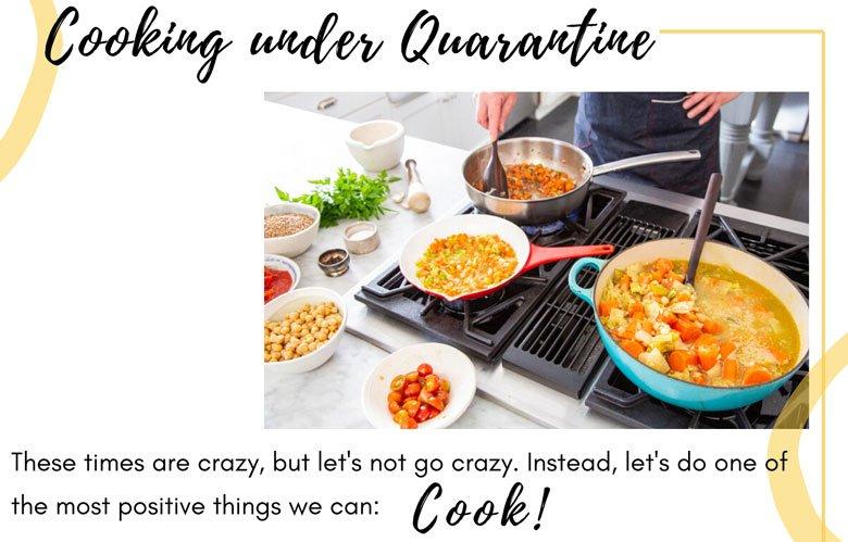 Cooking under Quarantine blog pic