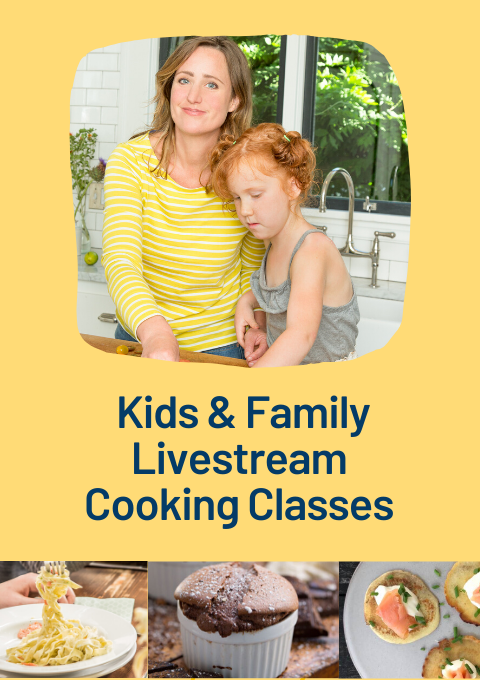 A kid's cooking class