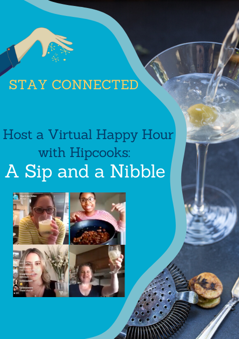 A sip and a nibble cooking class